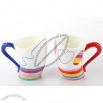 Painted Ceramic Mug for Couples