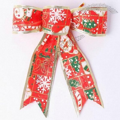 Painted Snowflake Christmas Bow