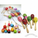 Painted Wooden Mini Maracas