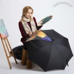 Painting Style Creative Fold Automatic Umbrella