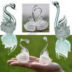 Pair Crystal Swan for Wedding Gift