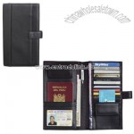 Palazzo Leather Travel Wallet - Black