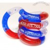Palm Sparkle Red, Blue & Clear Tangle Toy
