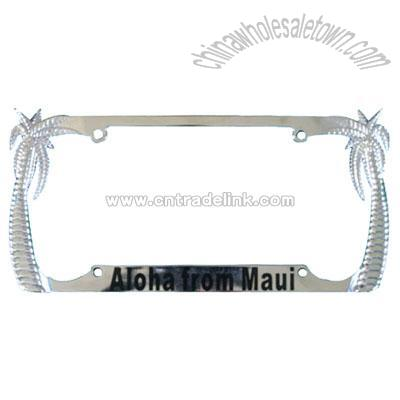 Palm Tree License Plate Frame, Auto License Plate Frames, China ...