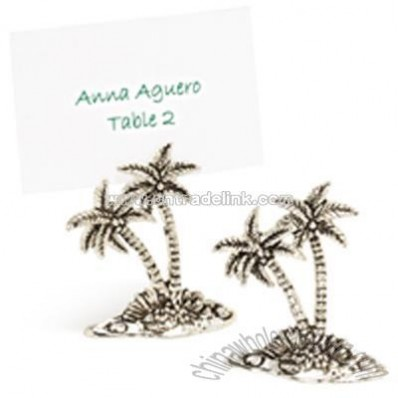 Palm Tree Place Card Holder