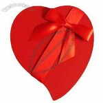 Paper Gift Box in Heart Shape with Ribbon