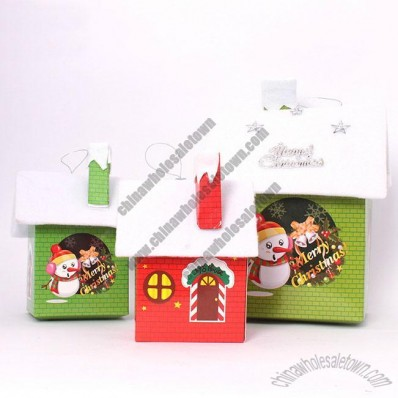 Paper Snow House Ornaments
