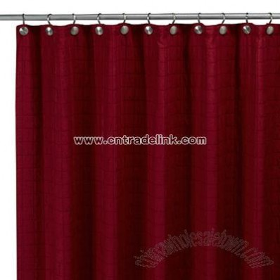 Parachute Red Fabric Shower Curtain