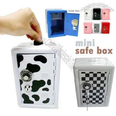 Password Safe Coin Money Bank  witn Locker - iron cash box