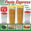Pasta Express Double Set - Pour, Cook, Drain - As Seen On TV