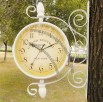 Pastoral Style Rotating Iron-sided Wall Clock Quiet Movement