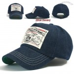 Patched Denim Ball Caps Cotton Baseball Cap Snapback Trucker Hat