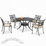 Patio Furniture Set with Table and Arm Chair