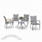 Patio Set with One Table and Four Chairs