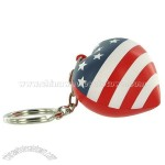 Patriotic Heart Key Chain Stress Balls