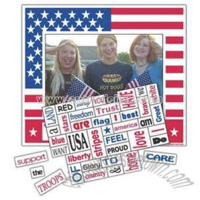 Patriotic magnet photo frame