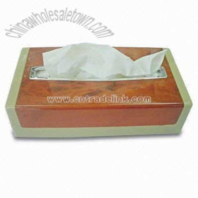 Peach Timber Tissue Box with 13.7kg Net Weight