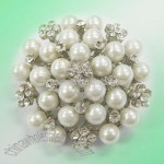 Pearl Brooch with Czech Crystals