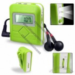 Pedometer with FM radio and LED light