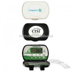Pedometer with five function clock with alarm