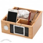Pen Holder, Calendar, Cellphone Holder, Tissue boxes - Wood Desk Organizer