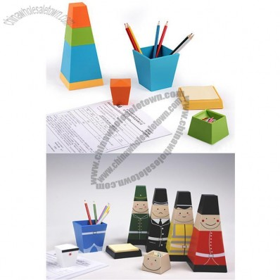 Pen Holder & Paperweight & Clip Holder & Notes Dispenser Set