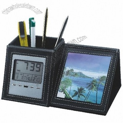 Pen Holder Calendar with Photo frame