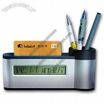 Pen Holder Clock with Card Holder