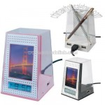 Pen Holder Clock with USB Hub and Back Light