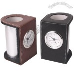 Pen Holder Leather Clock