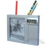 Pen Holder With Calendar with Photo Frame