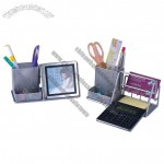 Pen Holder with Calculator Photo Frame and Desk Organize