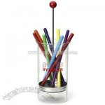 Pen and pencil holder inspired by classic straw dispenser
