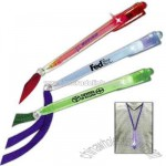 Pen necklace with matching color LED