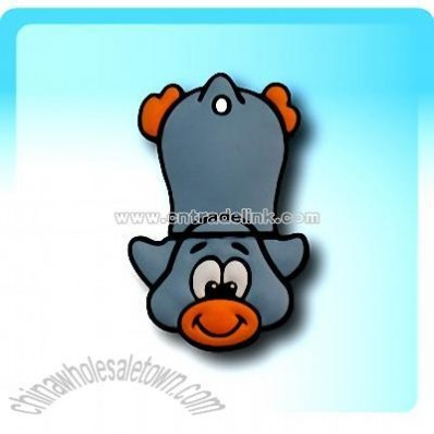 Penguin Slide Grey USB Flash Drive