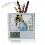 Penholder with Digital Calendar Clock
