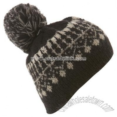 People Tree Pom Pom Beanie Hat