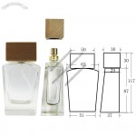 Perfume Bottle with Bamboo Lid