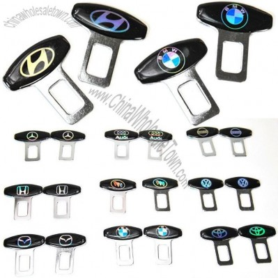 Personality Car Safety Belt Buckle with Auto Brand Logo