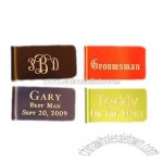 Personalized Aluminum Money Clip Groomsman Gift
