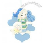 Personalized Baby's First Christmas Blue Snowman Ornament