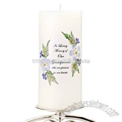 Personalized Blue Bouquet Memorial Candle