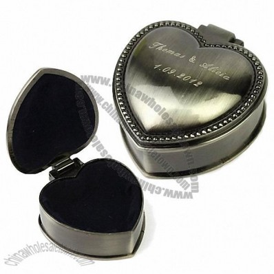 Personalized Classic Heart-shaped Tin Alloy Women's Jewelry Box
