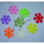 Personalized Color Snowflakes Silicone Coaster