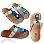 Personalized Cork Sandals with Cow Suede Insole