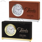 Personalized Desk Leather Clock
