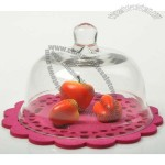 Personalized Glass Clear Cake Cover