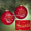 Personalized Glass Grandchildren Ornaments