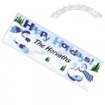 "Personalized ""Happy Holidays"" Blue Snowman Banner"
