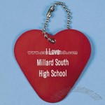 Personalized Heart Key Chains - Red